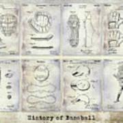 Baseball Patent History Art Print