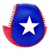 Baseball Star Art Print
