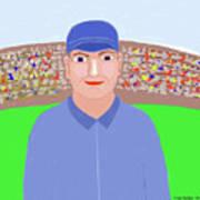 Baseball Star Portrait Art Print