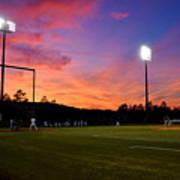 Baseball Sunset Art Print