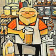 Basement Brewer Art Print