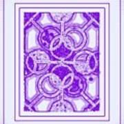 Bases Loaded In Purple Art Print