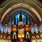 Notre - Dame Basilica - Montreal Art Print