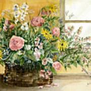 Basket Bouquet Art Print