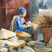 Basket Maker Print by Sharon Freeman