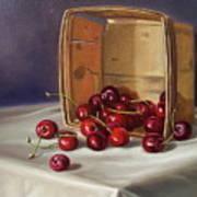 Basket Of Cherries Art Print