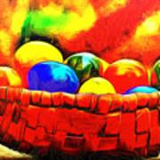 Basket Of Eggs - Da Art Print