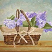 Basket Of Lilacs Art Print