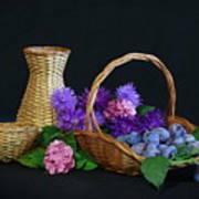 Basket With Astern Art Print