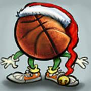 Basketball Christmas Art Print