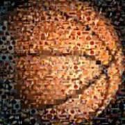 Basketball Mosaic Art Print