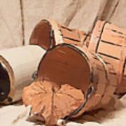 Baskets With Crock II Art Print