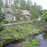 Baslow Cottages Art Print