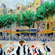 Basque Country Dancing Art Print