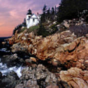 Bass Harbor Head Lighthouse In Maine Art Print by Skip Willits