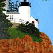 Bass Harbor Head Lighthouse Painting Art Print