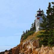 Bass Harbor Light House Art Print