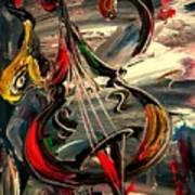 Bass Jazz Art Print