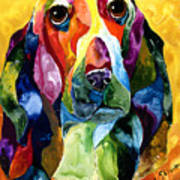 Basset Hound Blues Art Print