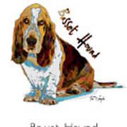 Basset Hound Pop Art Art Print