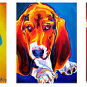 Basset Trio Print by Alicia VanNoy Call