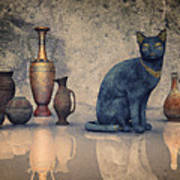 Bastet And Pottery Art Print