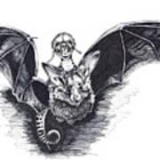 Bat Mobile Art Print