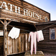 Bath House In Old Tucson Art Print