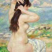 Bather Arranging Her Hair Print by Pierre Auguste Renoir
