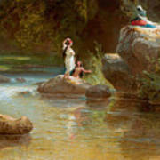 Bathers At The River. Evening In Orinoco? Art Print