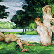 Bathers Male And Female Art Print