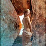 Bathing Maiden Art Print