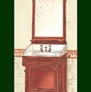 Bathroom Picture Wash Stand One Art Print