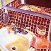 Bathroom Sink Art Print
