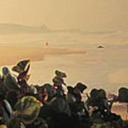 Bathsheba Beach Walk Art Print