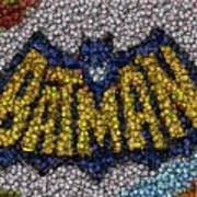 Batman Bottle Cap Mosaic Art Print