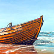 Battered By The Sea Art Print