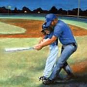 Batting Coach Art Print by Pat Burns