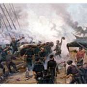 Battle Between Kearsarge And Alabama Art Print