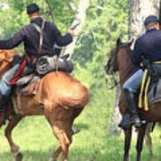 Battle By Horseback Art Print