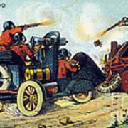 Battle Cars, 1900s French Postcard Art Print