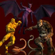 Battle Of Good Vs Evil Art Print