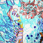Battle For Heaven Ggulu Summons Kaikuzzi To Defeat Walumbe Art Print