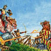 Battle Of Agincourt Art Print