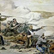 Battle Of Beecher's Island Art Print