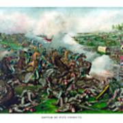 Battle Of Five Forks Art Print