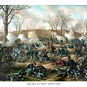 Battle Of Fort Donelson Art Print