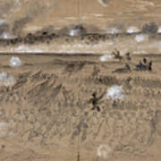 Battle Of Fredericksburg Art Print by Granger
