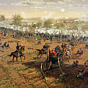Battle Of Gettysburg Art Print by Thure de Thulstrup