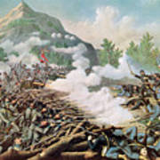 Battle Of Kenesaw Mountain Georgia 27th June 1864 Art Print by American School